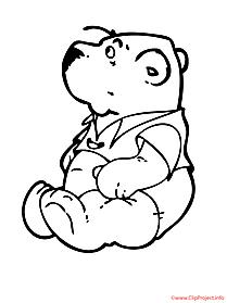 Bear printable coloring page