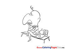 Bench Colouring Sheet download free