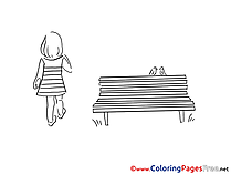 Bench printable Coloring Pages for free
