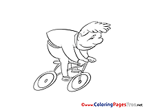 Bicycle for Children free Coloring Pages