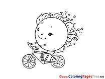 Bicycle printable Coloring Sheets download