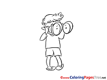 Binoculars free printable Coloring Sheets
