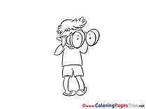 Binoculars free printable Coloring Sheets