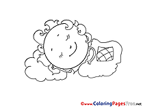 Blanket free Colouring Page download