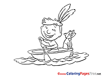 Boat free printable Coloring Sheets