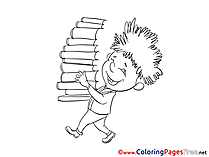 Books Kids download Coloring Pages