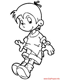 Boy coloring page free