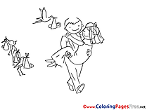 Bride Colouring Page printable free