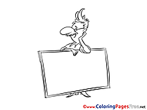 Broadsheet free Colouring Page download