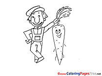Carrot free Colouring Page download