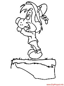 Cartoon coloring sheet