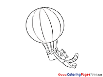 Cat Colouring Page printable free