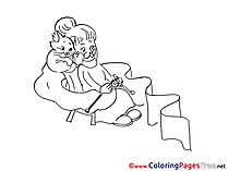 Cat for free Coloring Pages download
