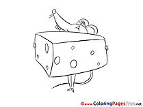 Cheese Kids free Coloring Page