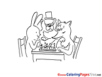 Chess Coloring Pages for free