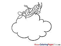 Cloud for Kids printable Colouring Page