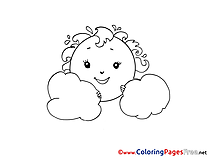 Cloud printable Coloring Pages for free