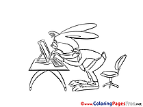 Computer download Colouring Sheet free