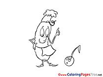 Corn Coloring Sheets download free