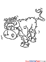 Cow printable Coloring Sheets download