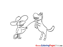 Cowboy printable Coloring Pages for free