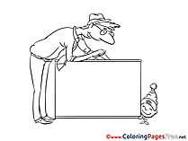 Dad Coloring Pages for free