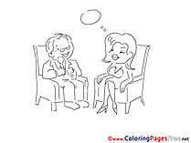 Dialog Children Coloring Pages free