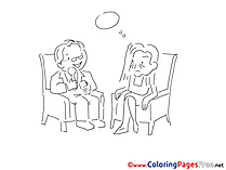 Dialog for Children free Coloring Pages