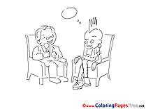 Dialog for free Coloring Pages download