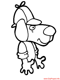 Dog cartoon image to color