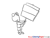 Dog printable Coloring Sheets download