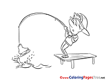 Fishing Coloring Sheets download free