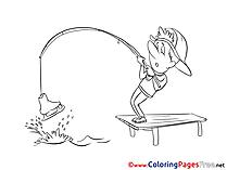 Fishing Coloring Sheets download free