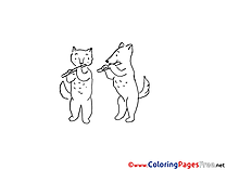 Flute printable Coloring Pages for free