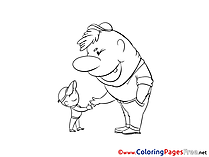 Friends free Colouring Page download