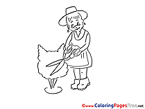 Gardener printable Coloring Pages for free