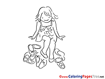 Girl Colouring Sheet download free