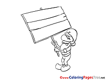 Gnome Children Coloring Pages free