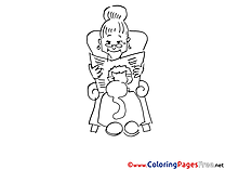 Grandmother printable Coloring Sheets download