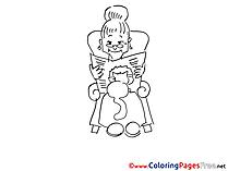 Grandmother printable Coloring Sheets download