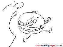 Hamburger free Colouring Page download