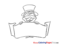 Hat for free Coloring Pages download