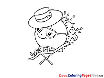Hat for Kids printable Colouring Page
