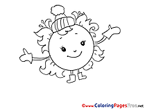 Hat Sun download printable Coloring Pages