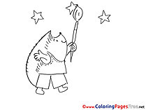 Hedgehog Children Coloring Pages free
