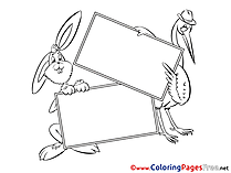 Heron printable Coloring Sheets download