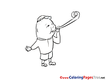 Holiday printable Coloring Pages for free