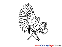 Indian Kids download Coloring Pages