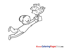 Letter for Children free Coloring Pages