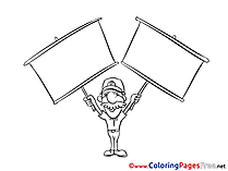 Man Kids download Coloring Pages